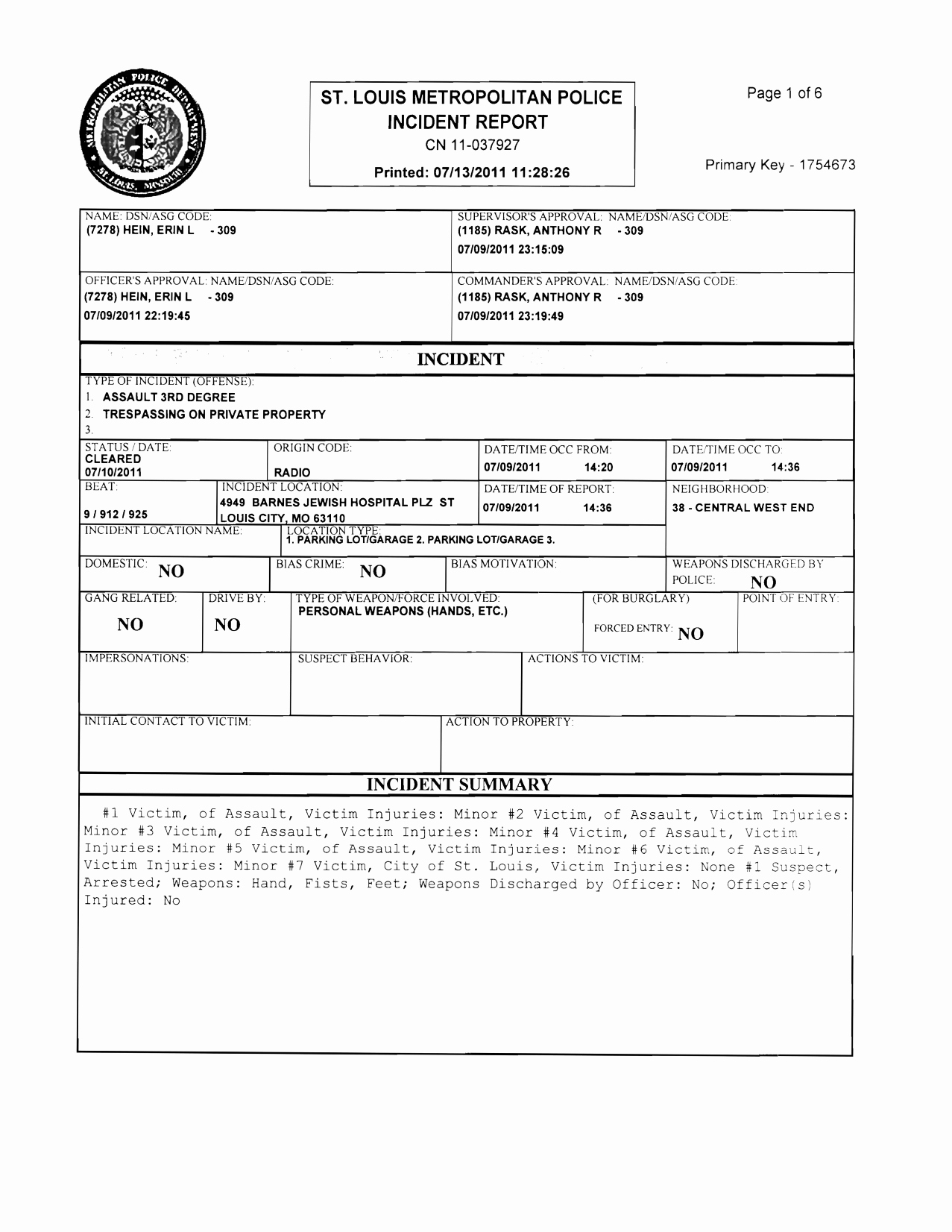 Best S Of Printable Blank Police Reports Blank
