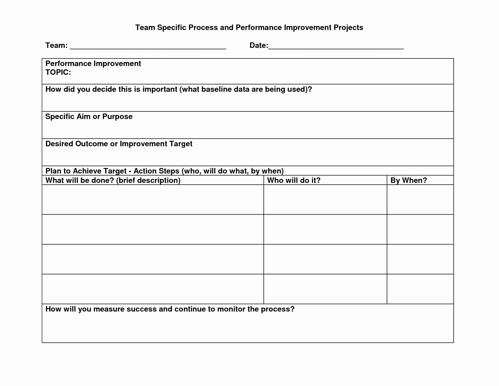 Best S Of Process Improvement Action Plan Template