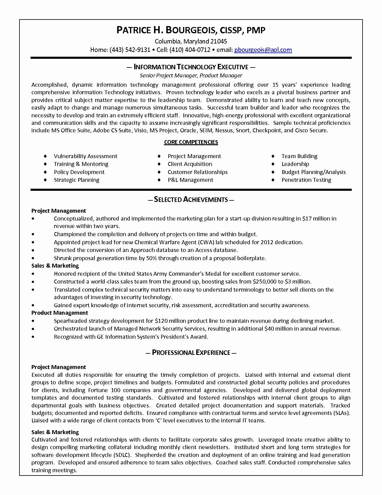 Best S Of Product Manager Resume Product Manager
