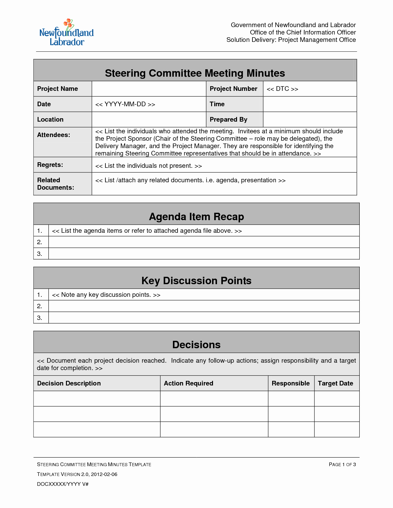 Best S Of Project Management Meeting Agenda Template