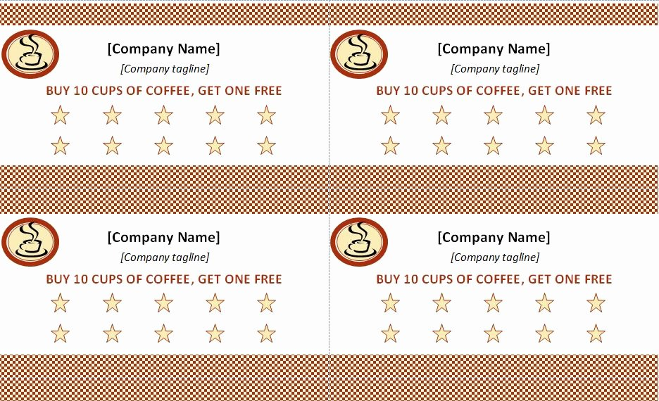 Best S Of Punch Card Template Word Free Printable
