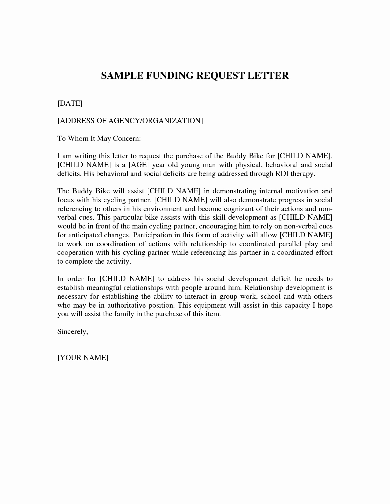 Best S Of Request for Funds Letter Sample Funding