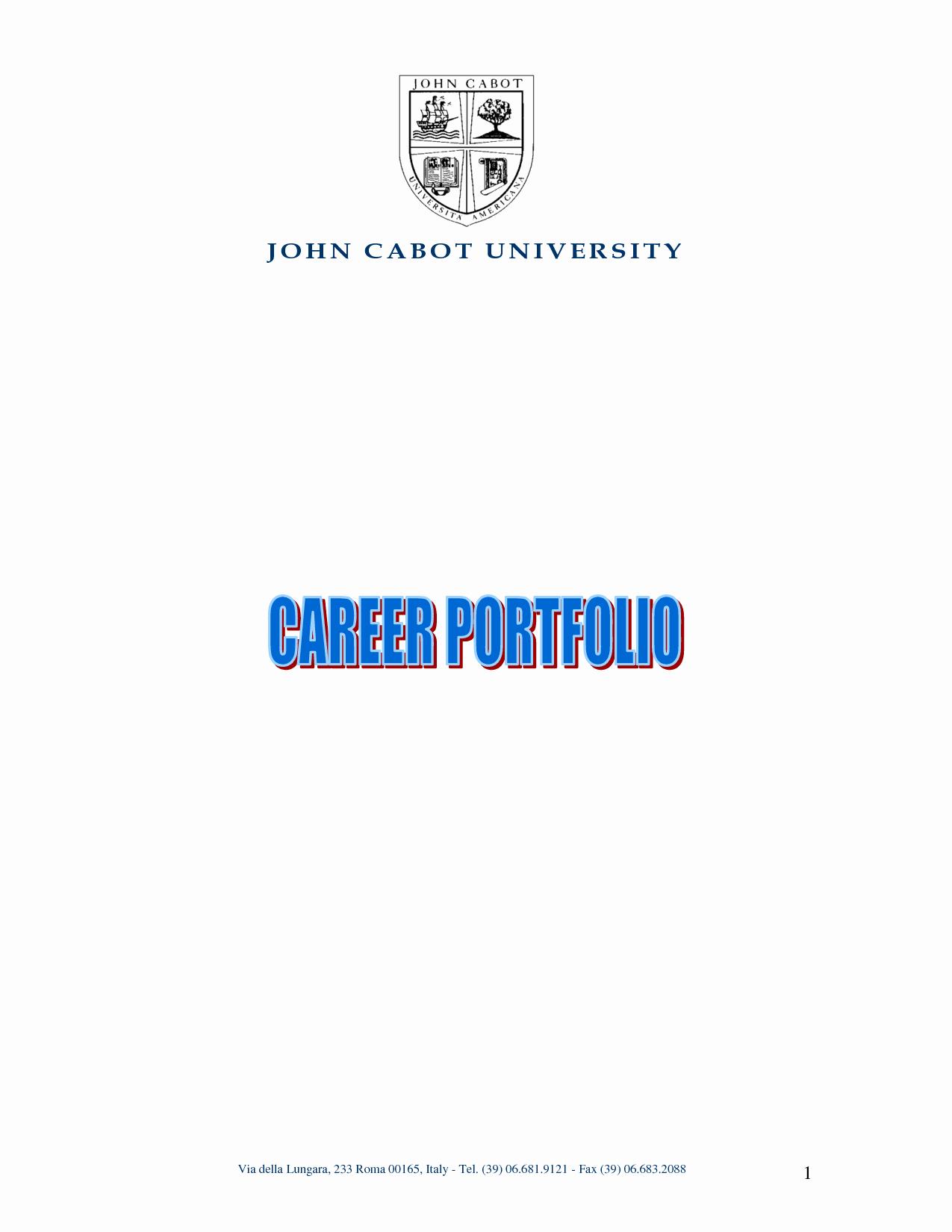 Best S Of Resume Portfolio Cover Sample Resume