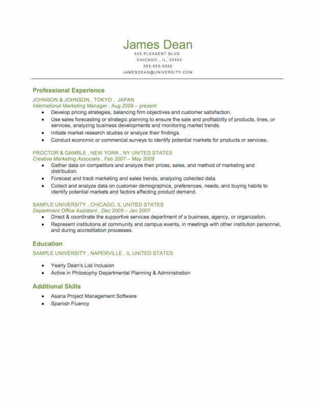 Best S Of Resume Template Chronological order