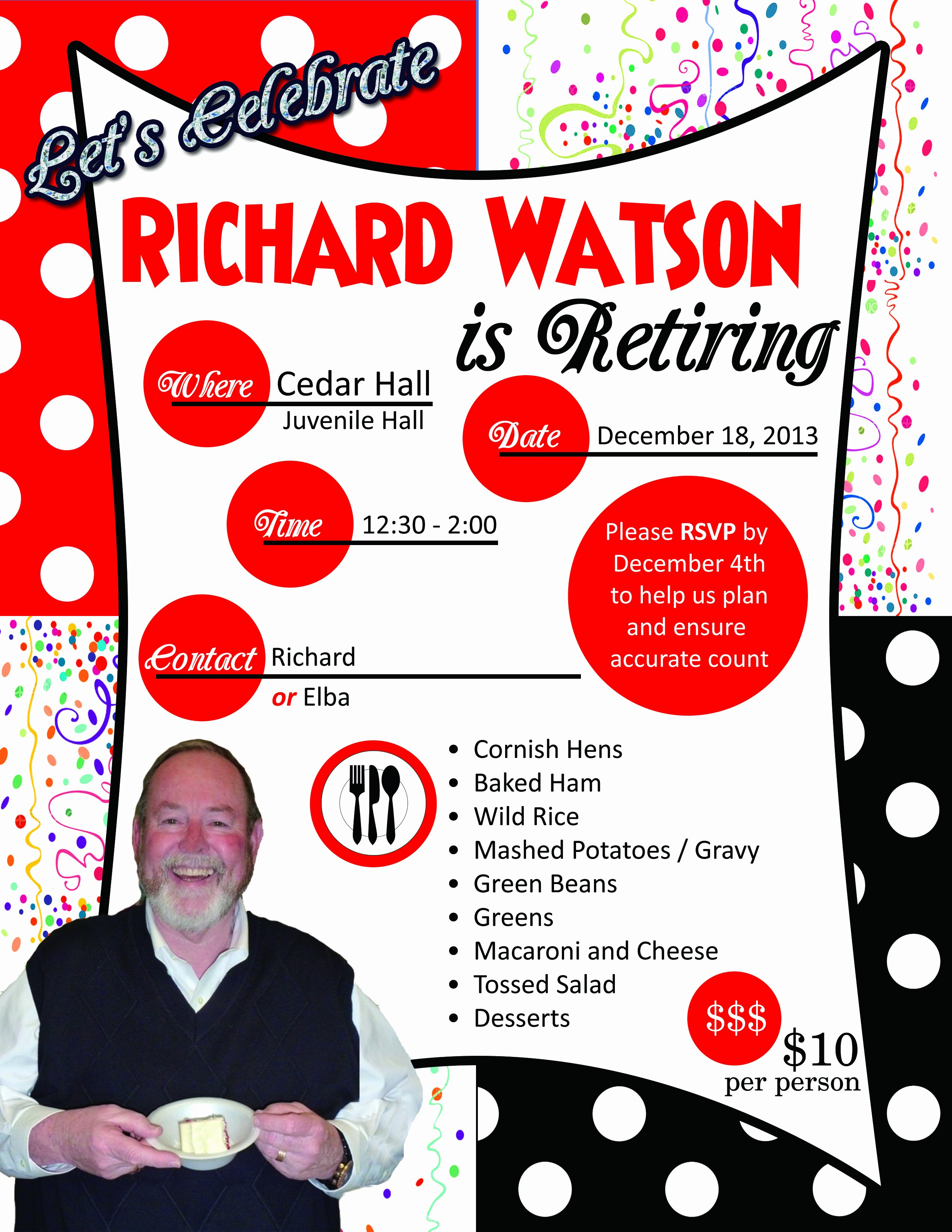 Best S Of Retirement Party Flyer Template Free