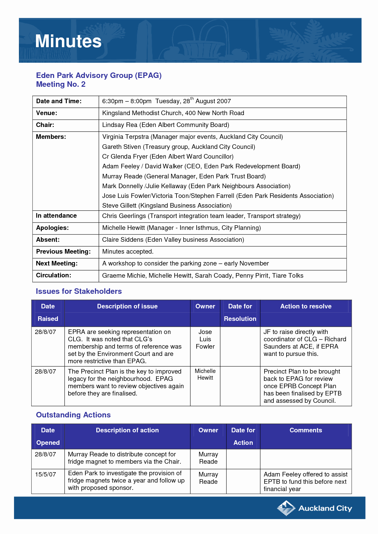 Best S Of Sample Church Meeting Minutes Template