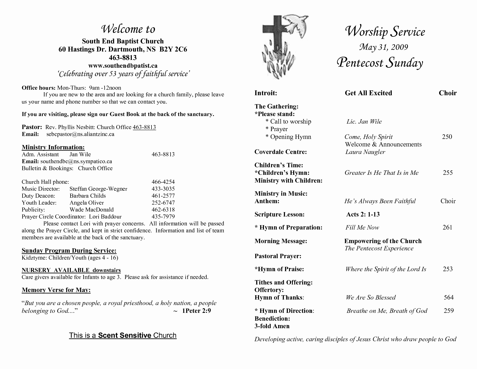 Best S Of Sample Church Programs order Service
