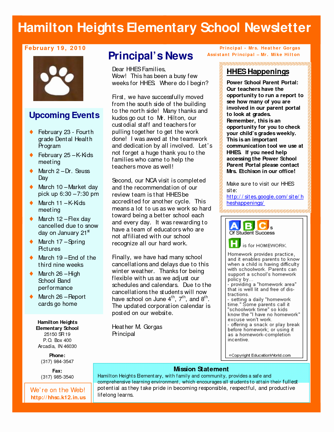 Best S Of Sample School Newsletter Templates Free