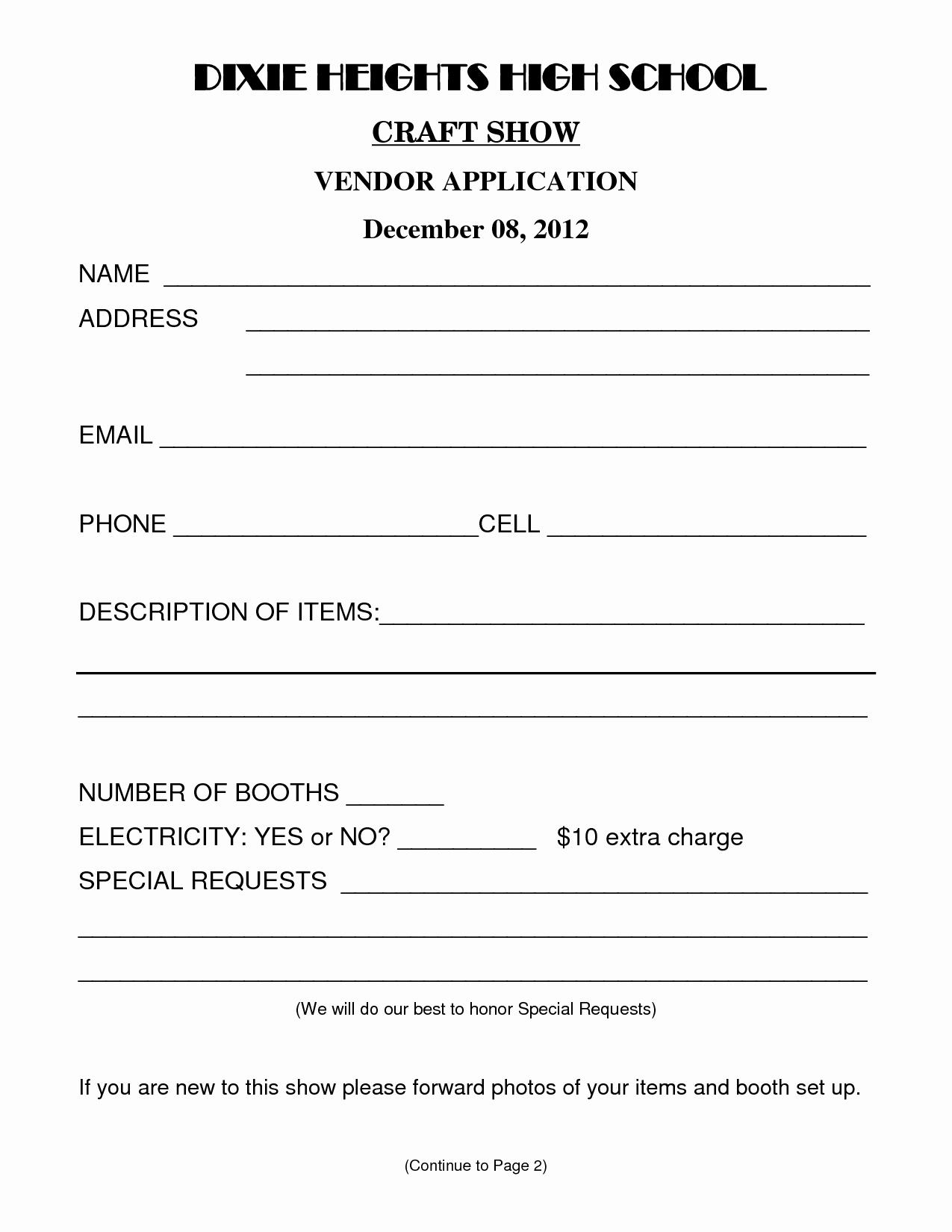 Best S Of Sample Vendor form Vendor Information