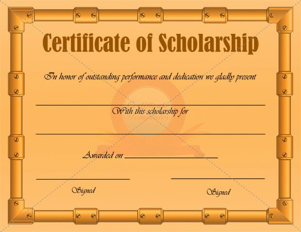 Best S Of Scholarship Certificate Templates