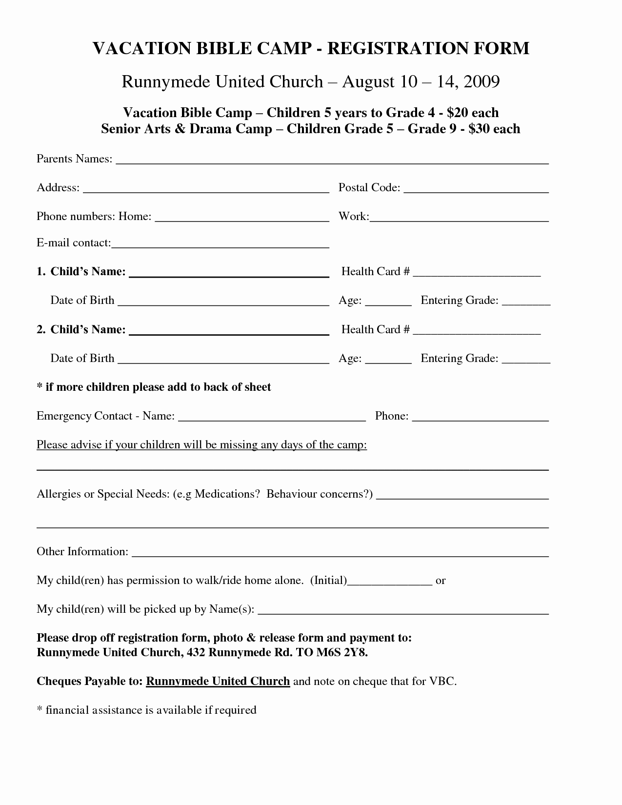 Best S Of School Registration form Template Public