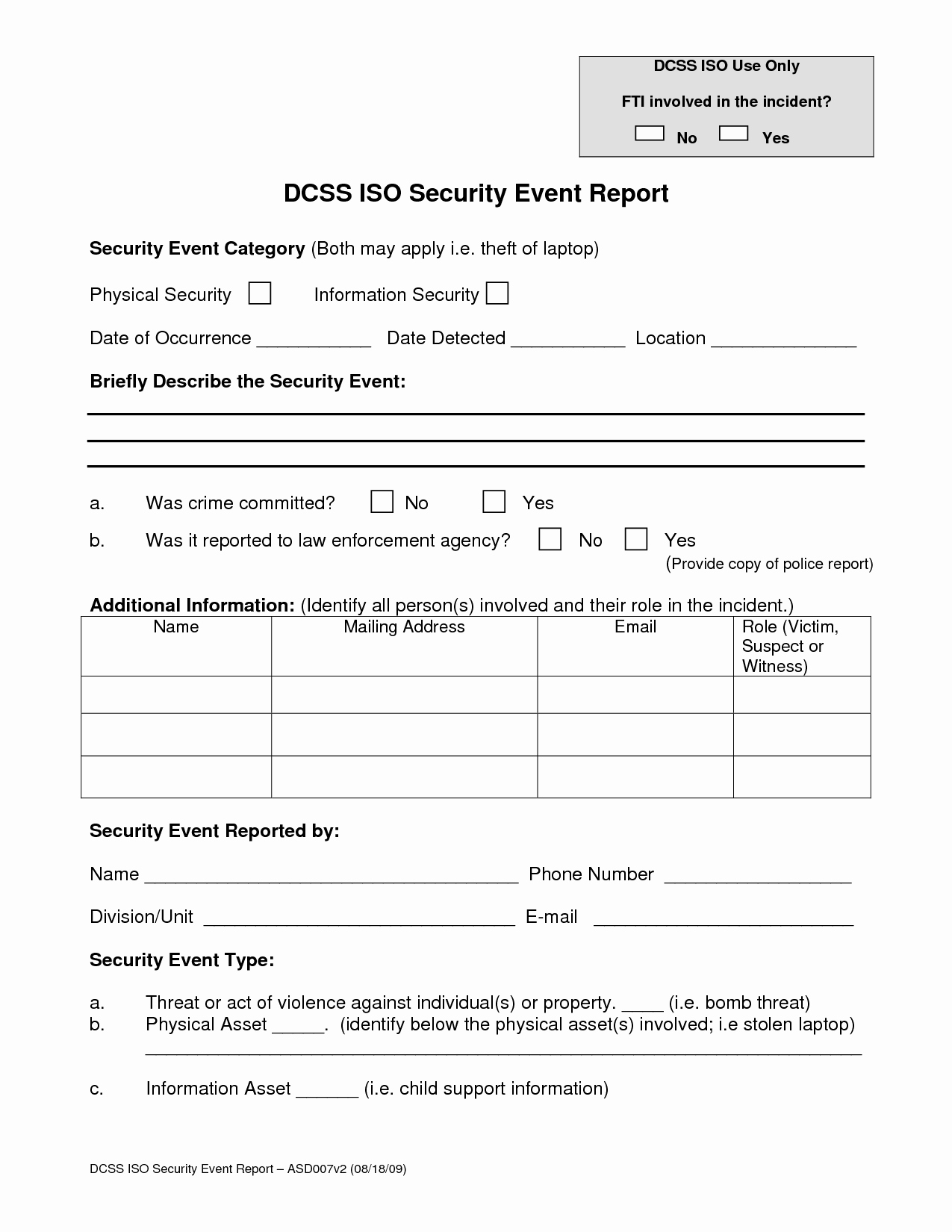 Best S Of Security Guard Incident Report form