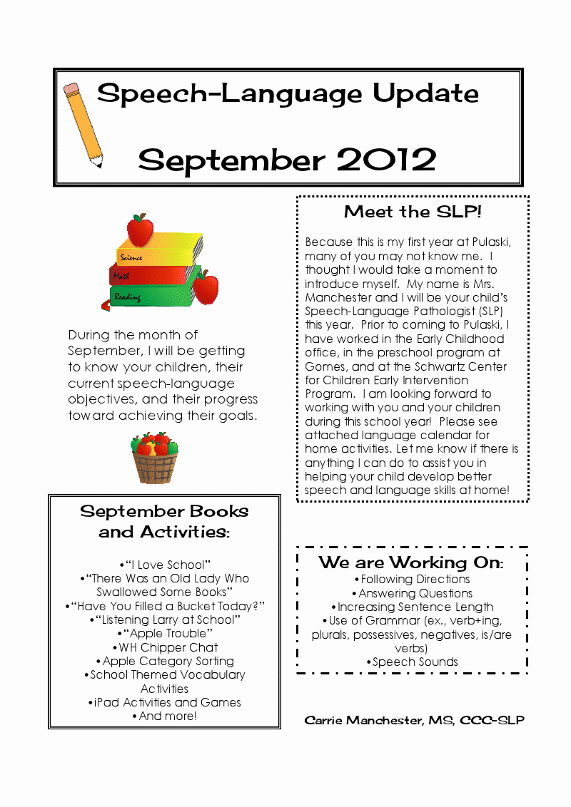 Best S Of September Newsletter Template Monthly