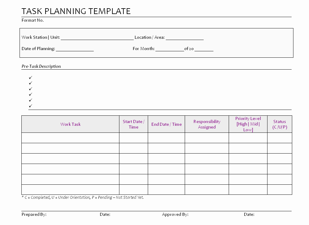 Best S Of Simple Project Plan Template Project