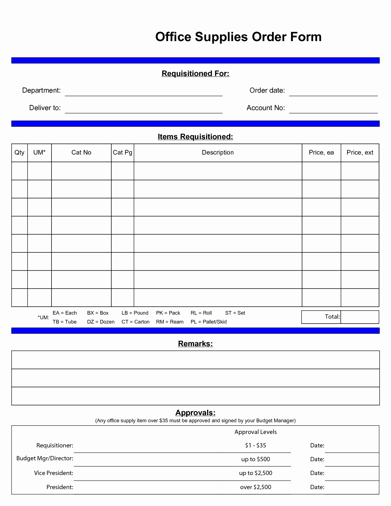 post standard office supply order form