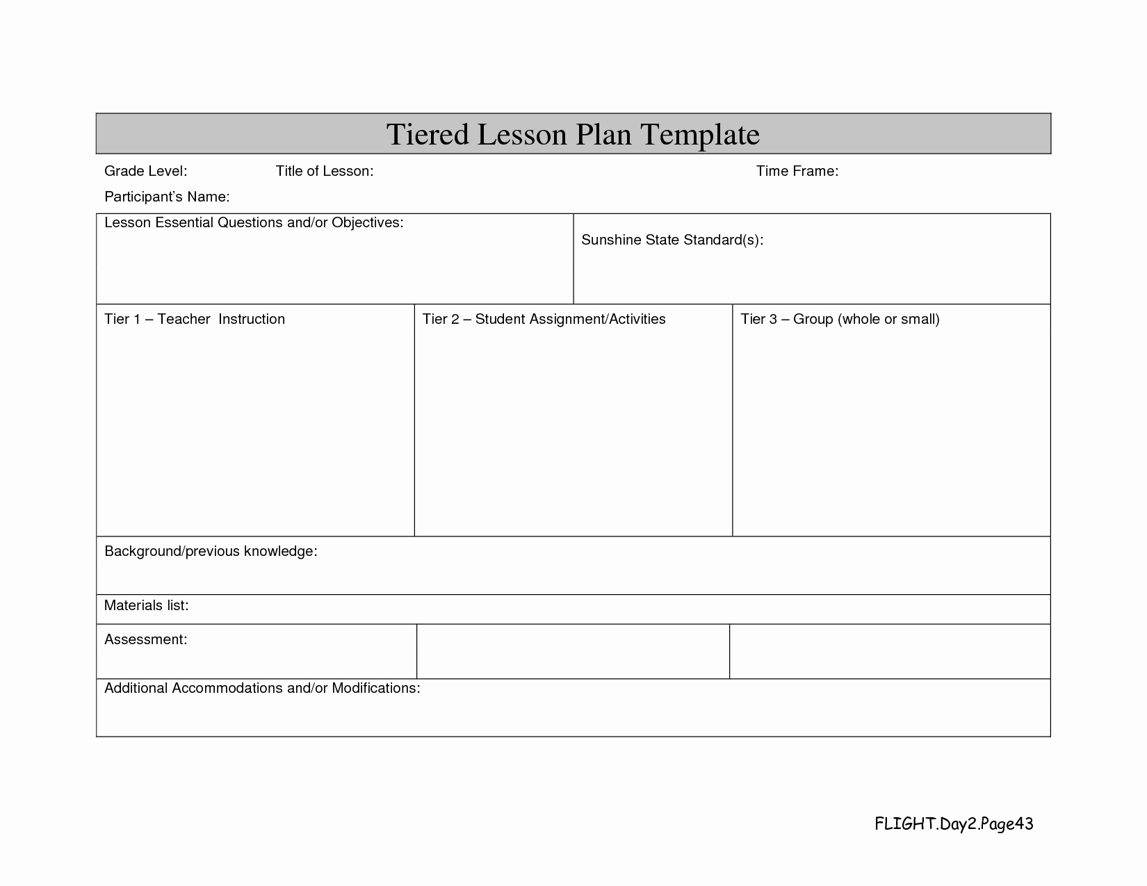 Best S Of Standard Lesson Plan format Template