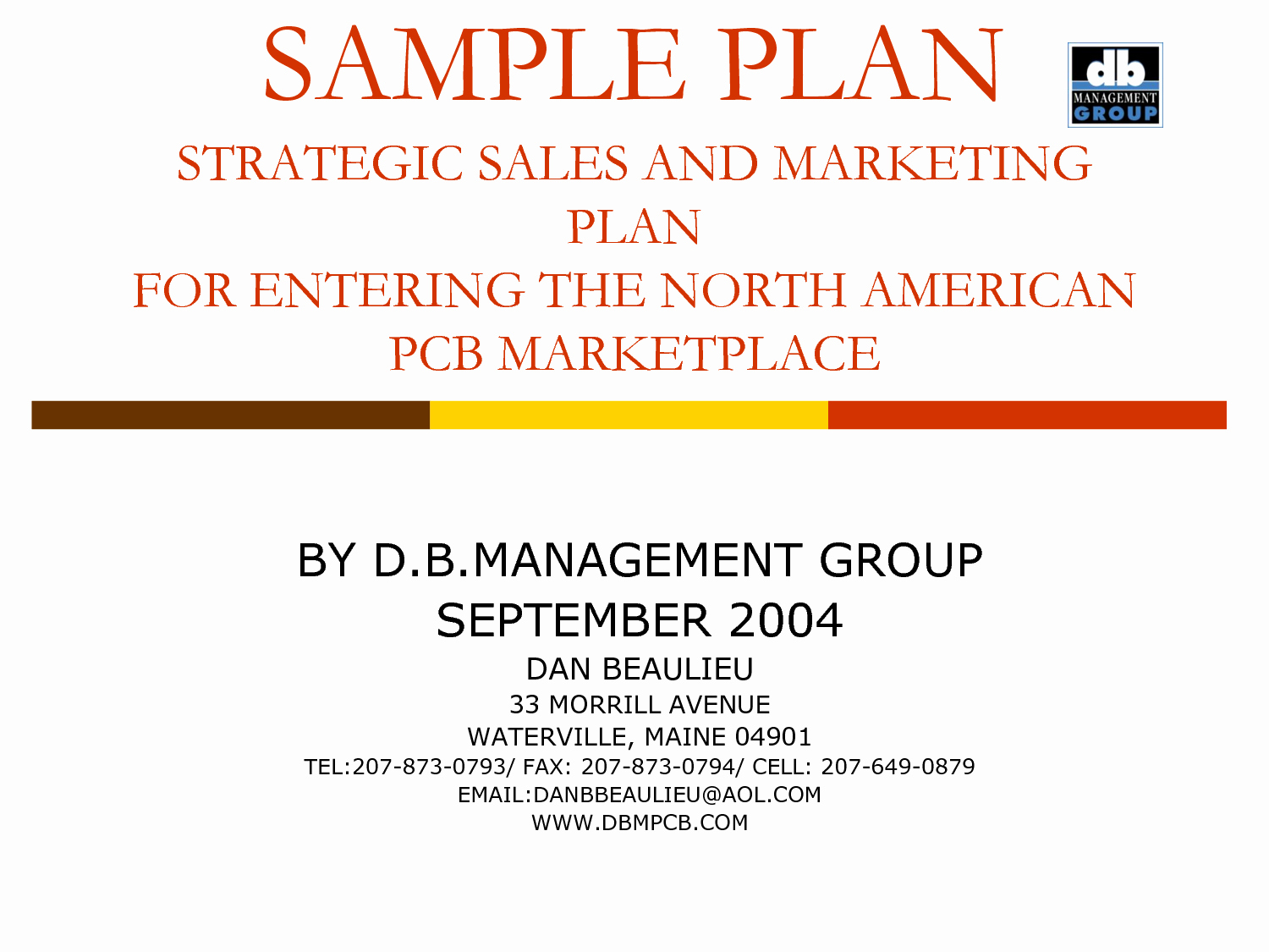 Best S Of Strategic Marketing Plan Example Business