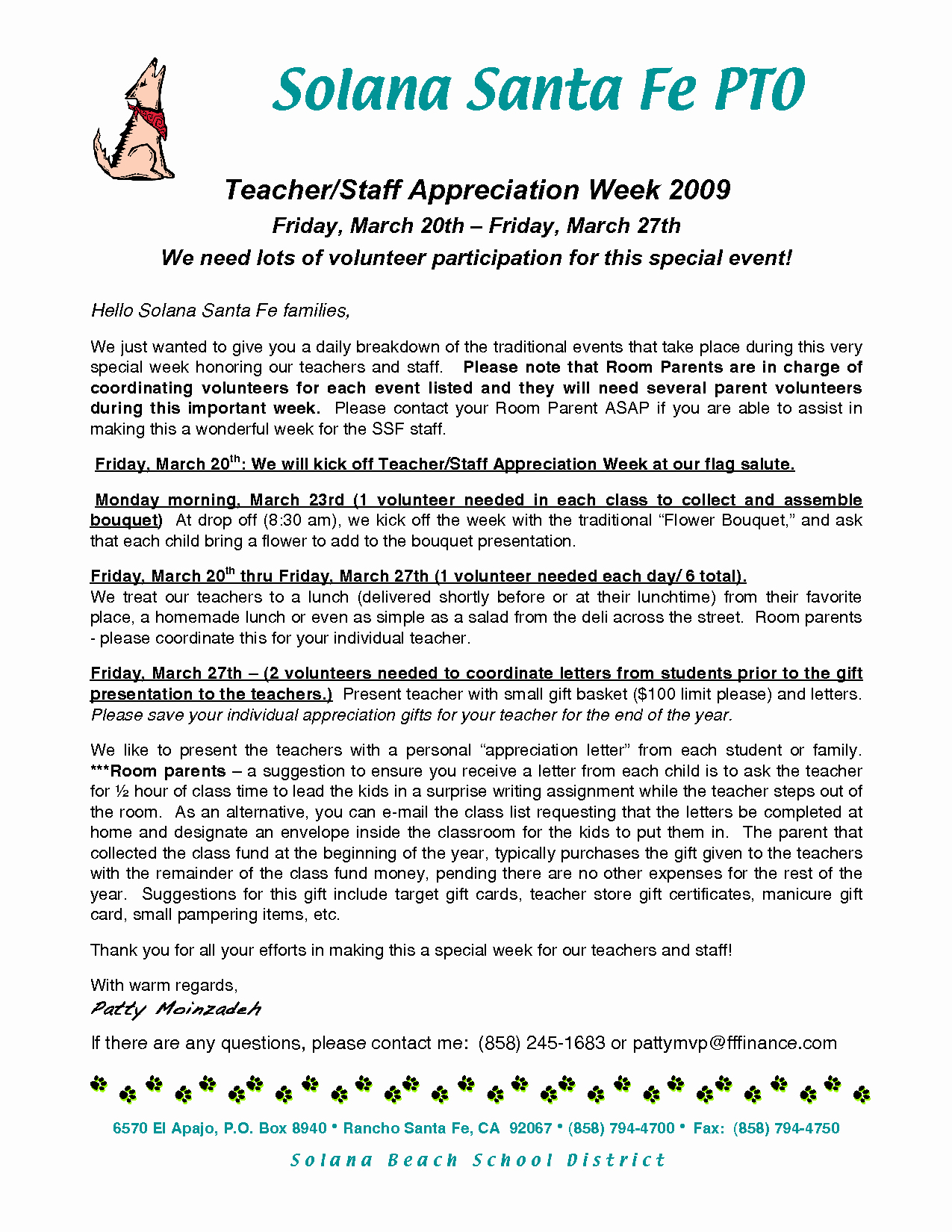 Best S Of Teacher Appreciation Letter Sample