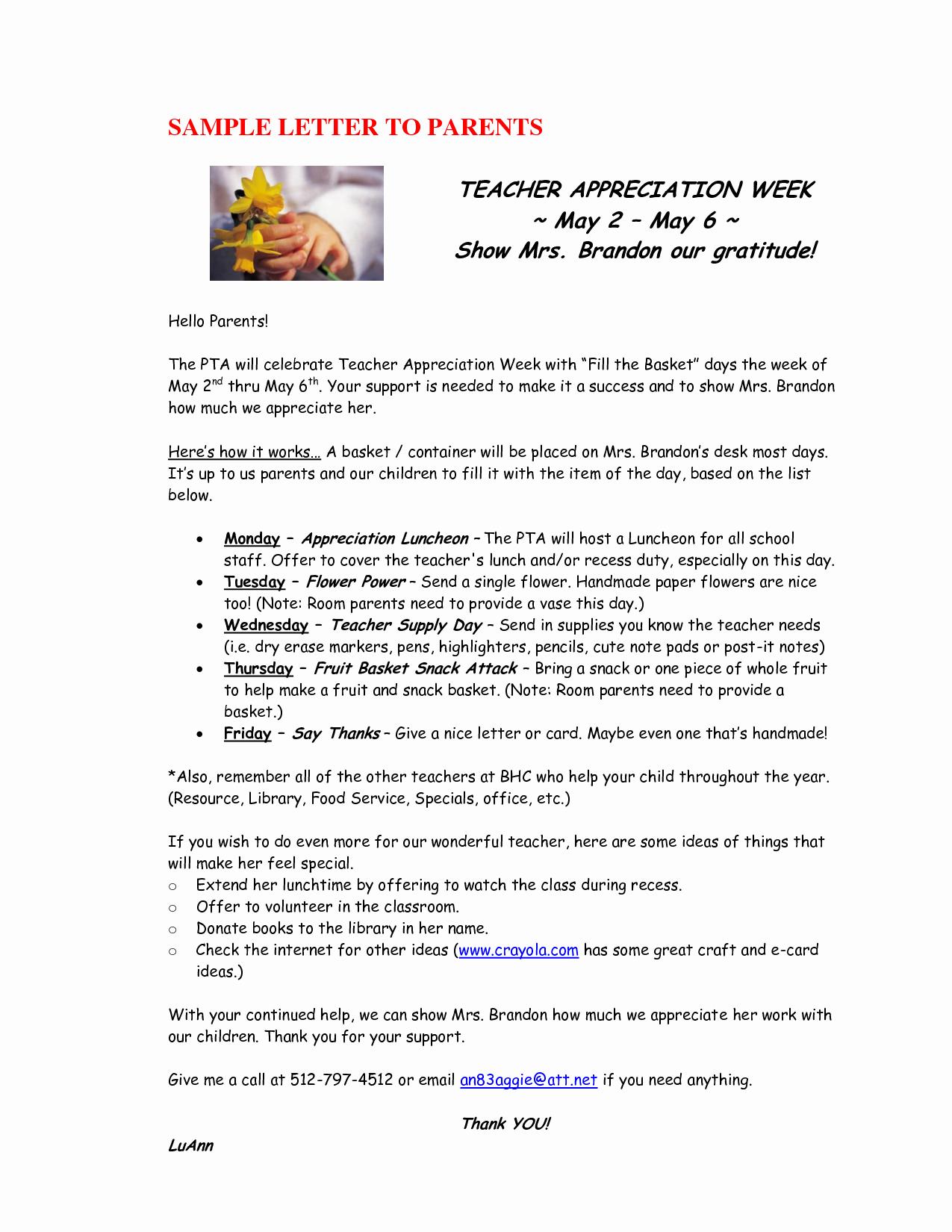 Best S Of Teacher Appreciation Letter Template