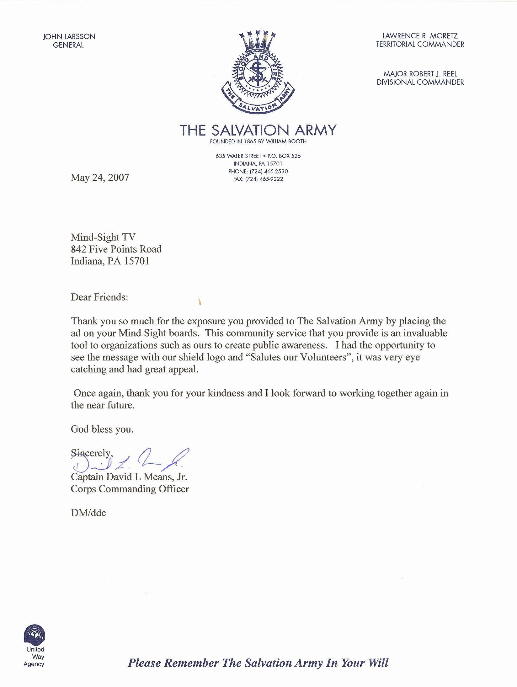 Best S Of Thank You Letter Volunteer Service