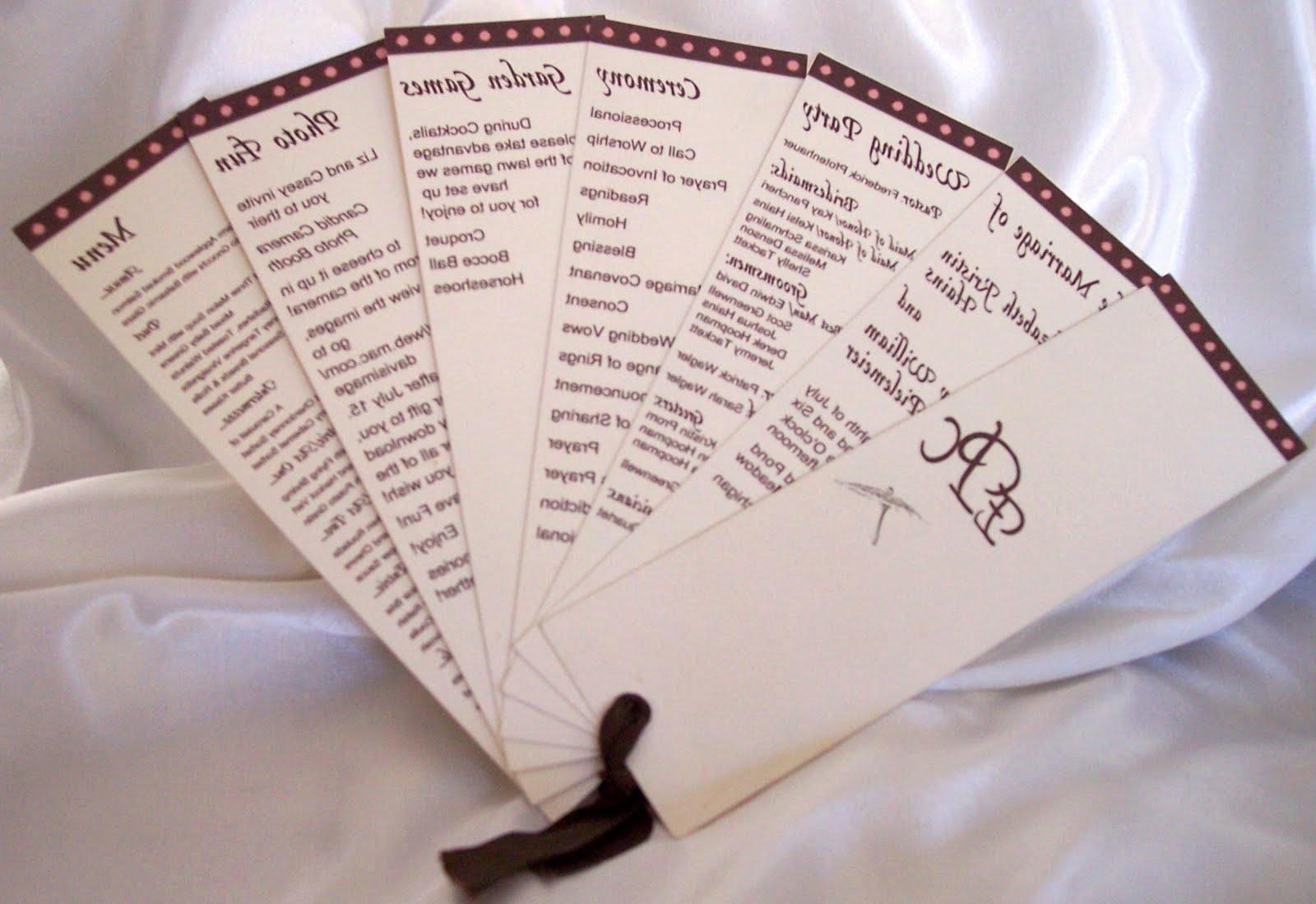 Best S Of Wedding Fan Programs Template Free