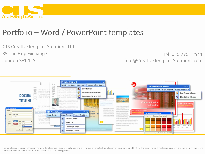 Best S Of Word Portfolio Templates Powerpoint