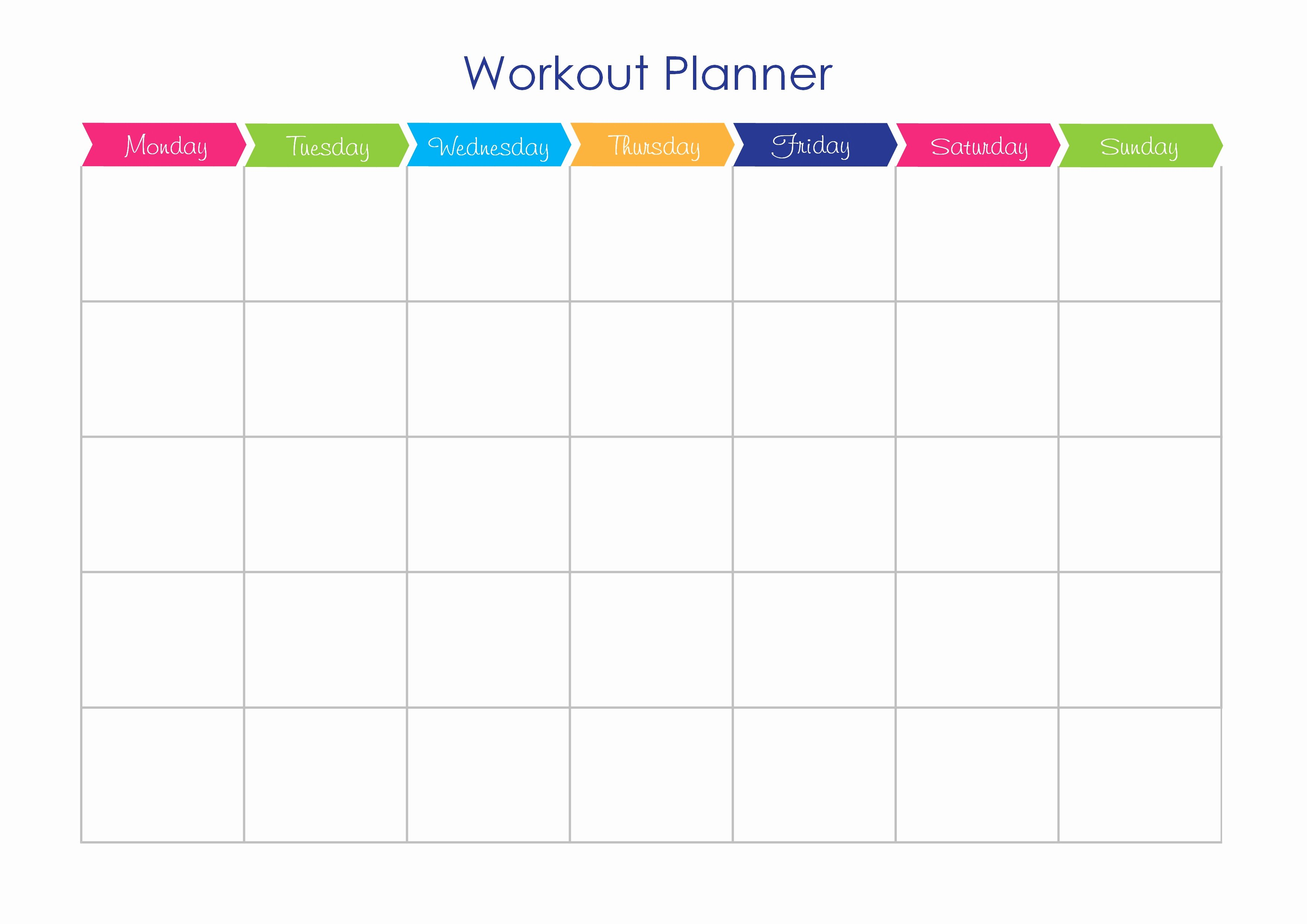 Best S Of Workout Calendar Template Free Exercise