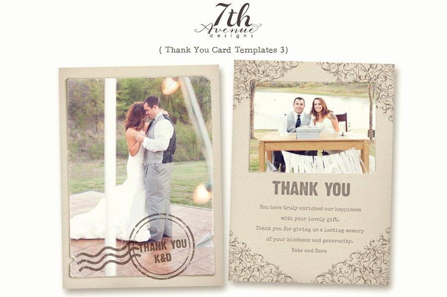 Best Sample Design Wedding Thank You Cards Template