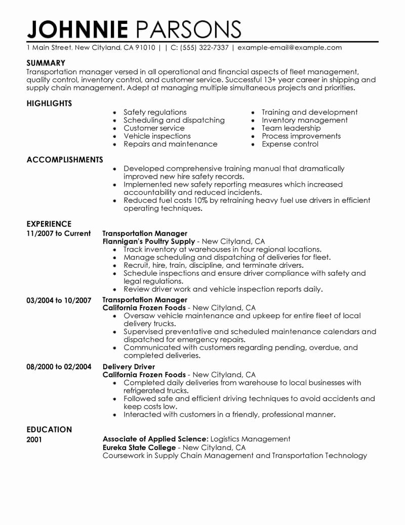 Best Store Manager Resume Example