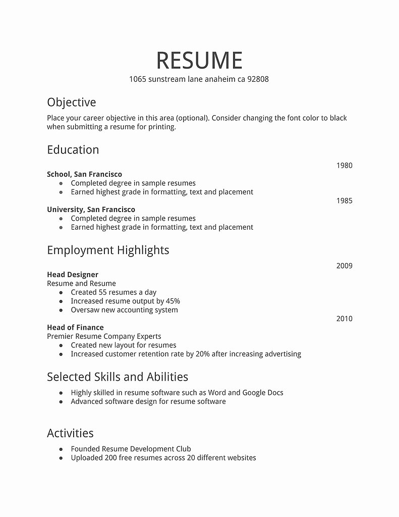 Best Way to Make A Resume Template
