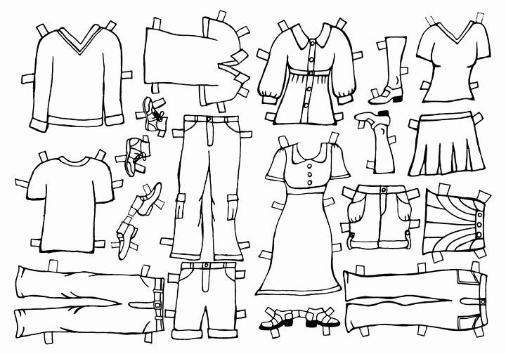 Beth & John S Wedding Paper Doll Clothes
