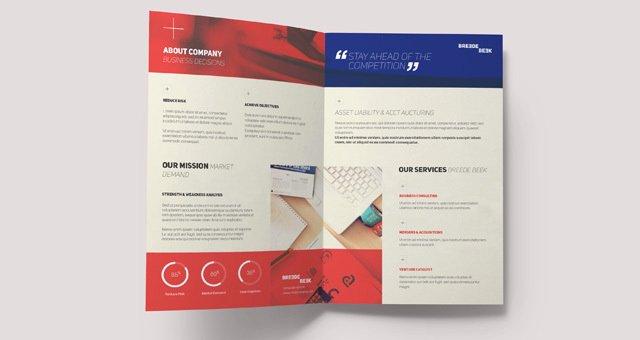 bi fold brochure template publisher