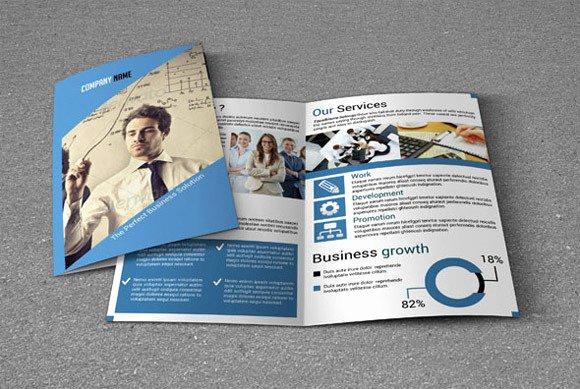 Bi Fold Brochure Template V20 Brochure Templates On