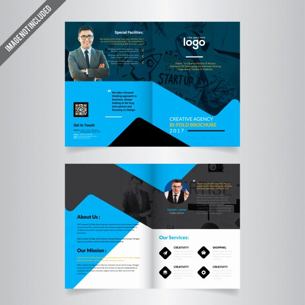 Bi Fold Brochure Template Vector