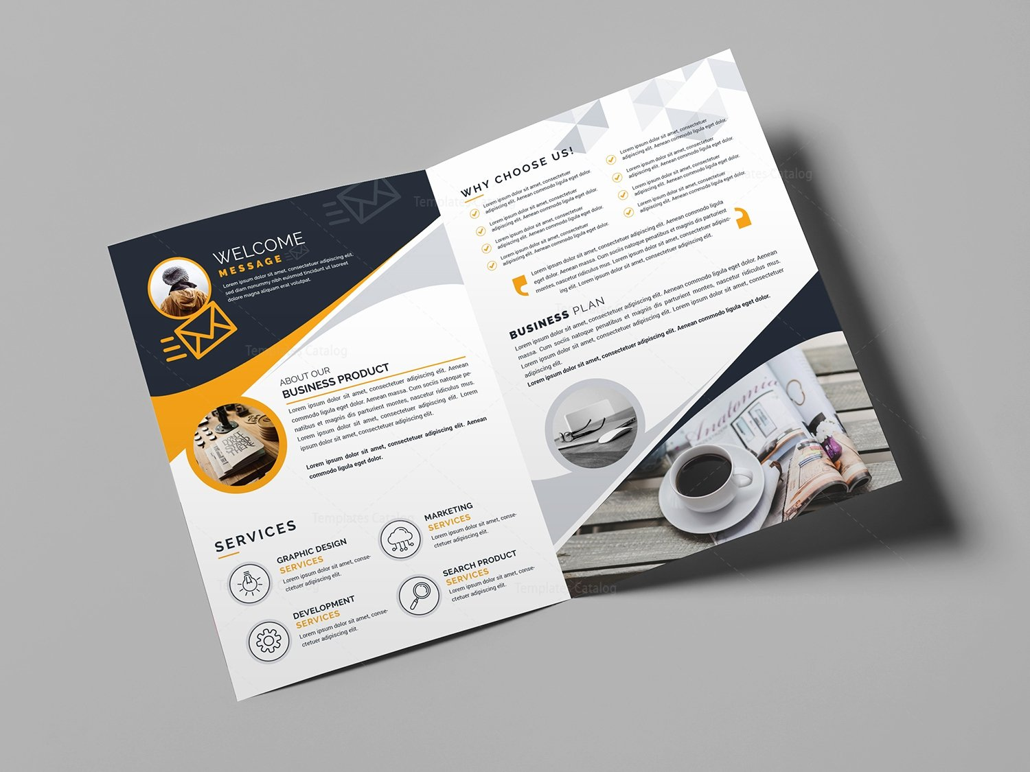 Bi Fold Business Brochure Template Template Catalog