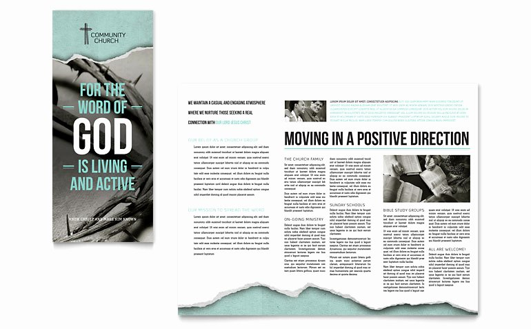 Bible Church Brochure Template Word & Publisher