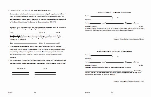 Bid Proposal Template 6 Best Proposal Examples