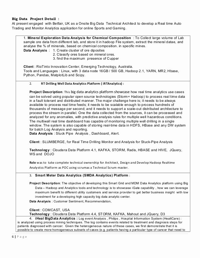 Big Data Resume F Resume