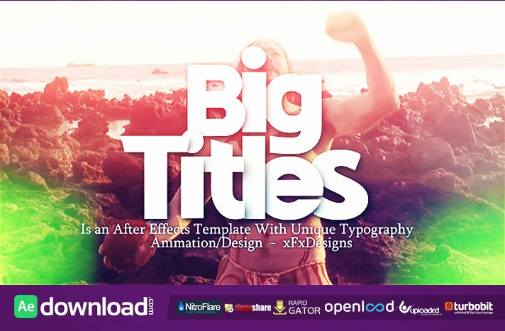 Big Titles Archives Free after Effects Template