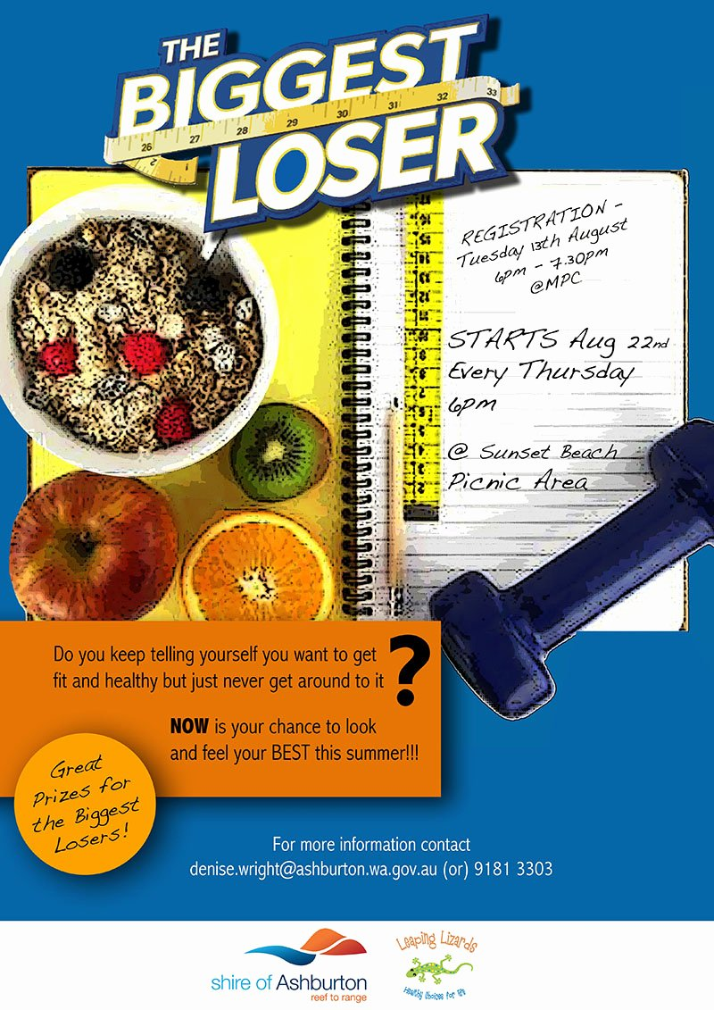 Biggest Loser at Work Flyer Template to Pin On