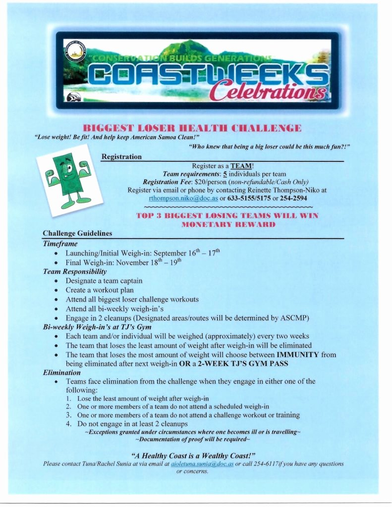 Biggest Loser Challenge 2016 Coastweeks