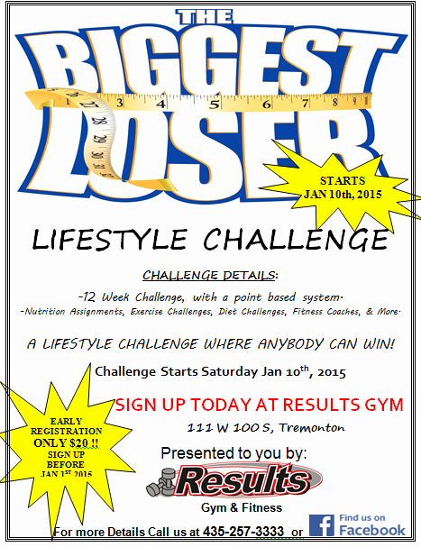 Biggest Loser Flyer 2015
