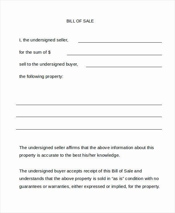 Bill Sale form 13 Free Word Pdf Documents Download