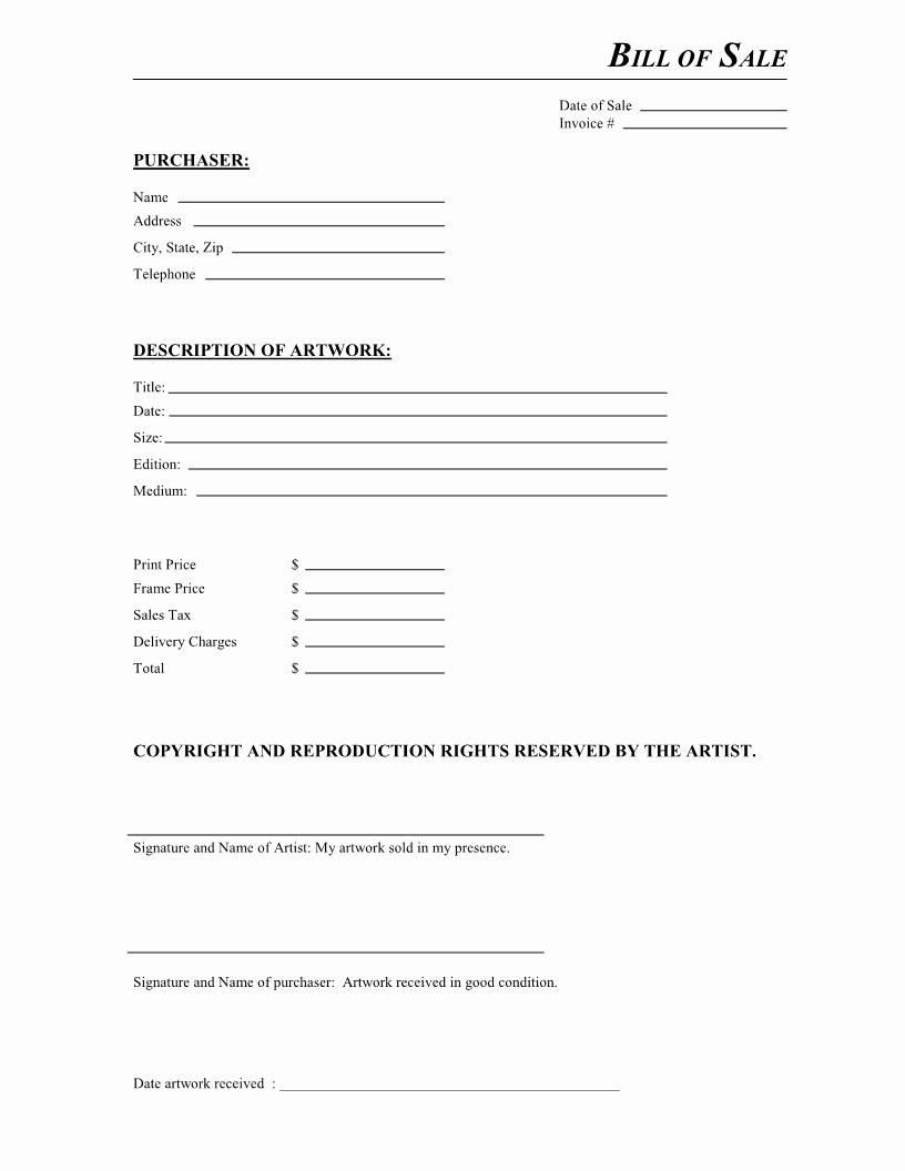 Bill Sale Invoice Residers Info Free Artwork form Pdf