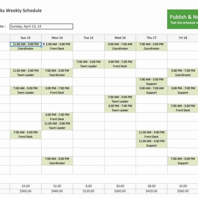 Billablers Timesheet Template Excel Spreadsheet for