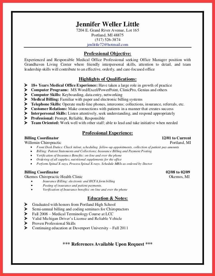Billing Coordinator Resume