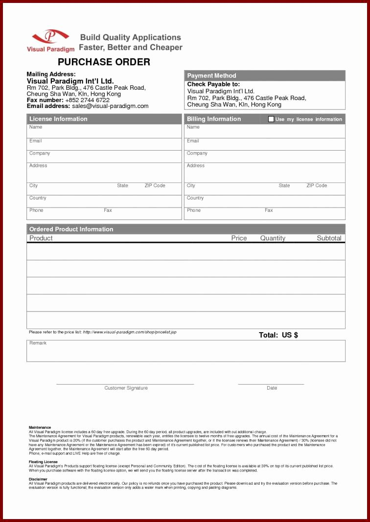 Billing Invoice Template and Free T Shirt order form
