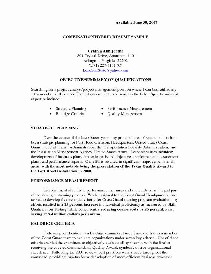 Bination Resume format