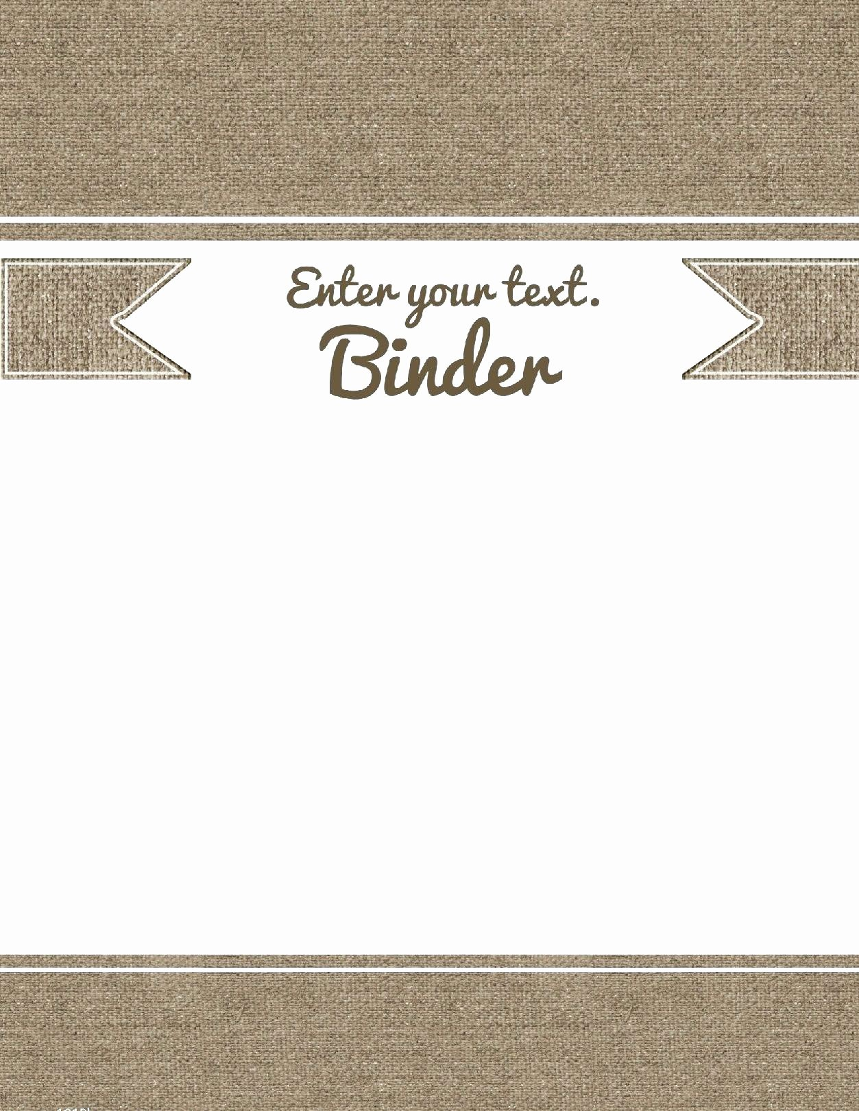 Binder Cover Insert Template
