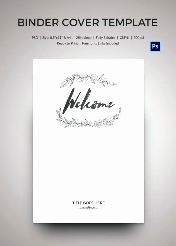 Binder Cover Templates Professional Free Template Synonyme
